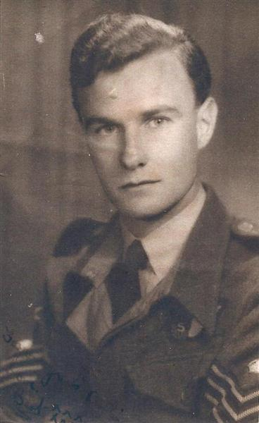 Bertie Bardell during II World War, he joined the RAF 1942 - 1943 aged 18yrs | Bertie Bardell