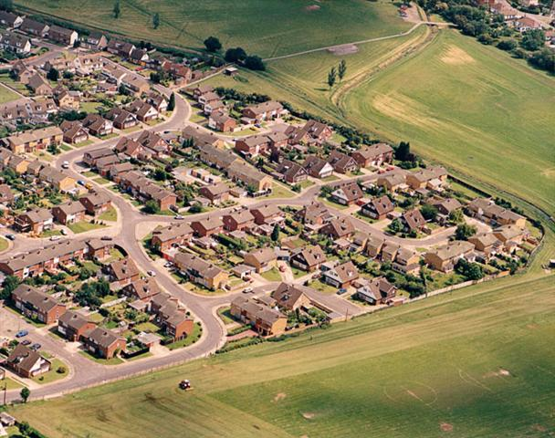 Aerial view of the 'Bird' estate | Edward Clack