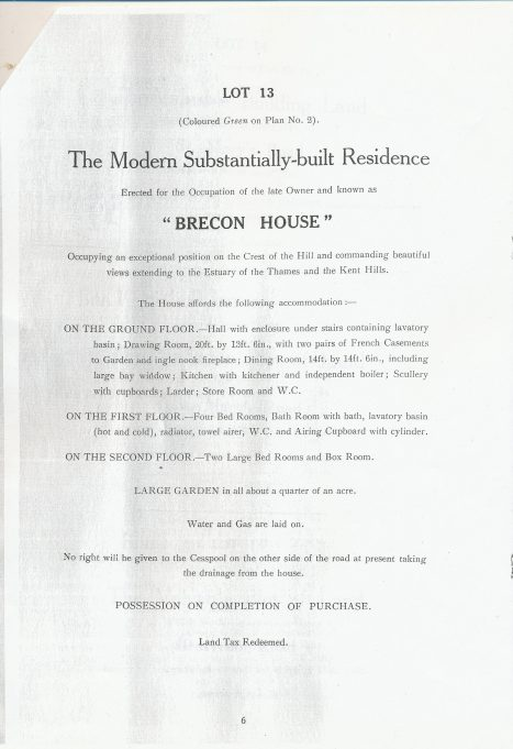 Brecon House particulars