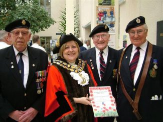The Mayor with British Legion Members | Castle Point Borough Council