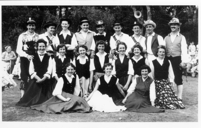 Circassian Circle - Sidmouth Folk Dance Festival - 1956 - Maureen Packham - middle row, second from left. | Philip and Maureen Packham