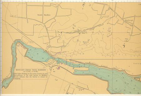 Benfleet Creek tidal barrier chart