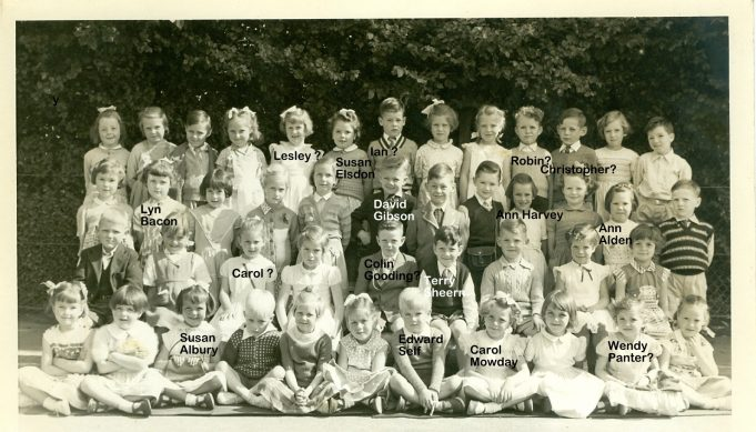 The class photo - I am standing back row, far left.