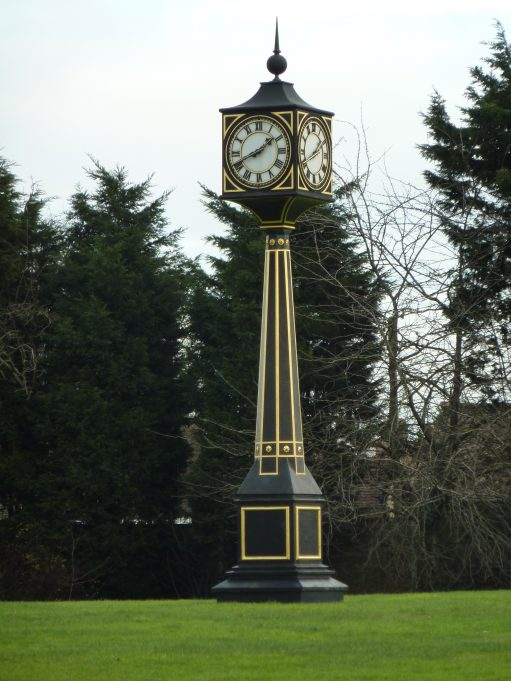Clock on the roundabout at Victoria House Corner in memory of Sir Bernard. | Margaret March