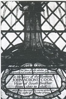 Memorial window to John Aubone Cook
