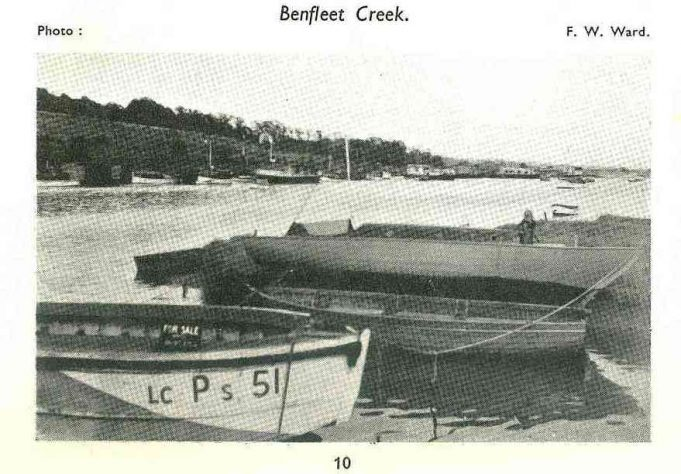 Picture of Benfleet Creek in the guide dated mid 1940s