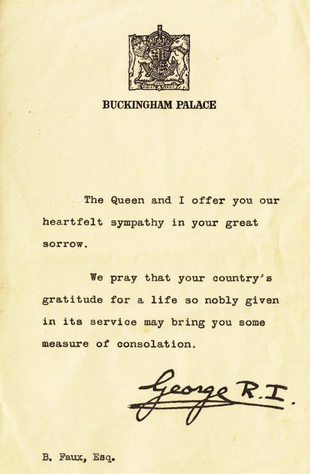 Royal condolences