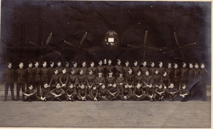 13/41 Squadron, Benfleet ATC, 1944.  George is in the middle row, fourth from the right. J M Hammerton is second from the left front row. Jimmy Bungay is second from the left in the middle row and Barry Watson is second from the left in the back row
