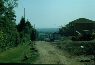 Corner of Lime Road looking down Hill Road. The entrance to the pig farm was immediately to the right of where the photo was taken from. | Harry Emery