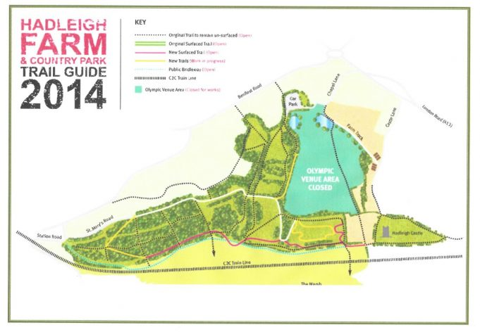 Map of new routes on the Benfleet Downs | Essex County Council