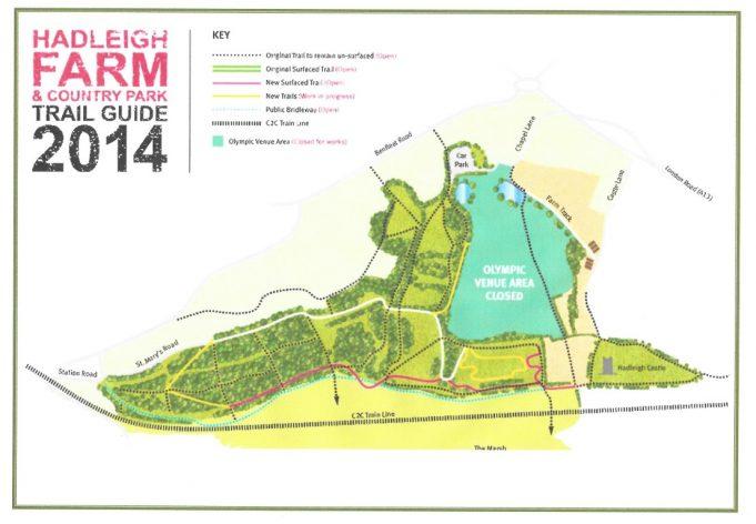 Hadleigh Farm (Benfleet Downs) trail guide 2014. | Essex County Council
