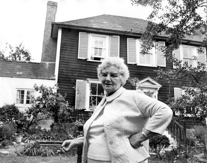Marjorie Hayklan outside her historic house | Echo News