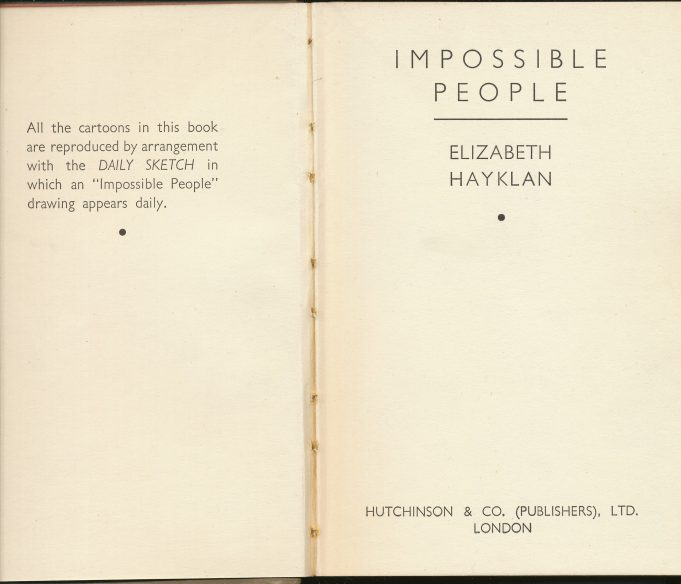The Book (1938) | Elizabeth Hayklan