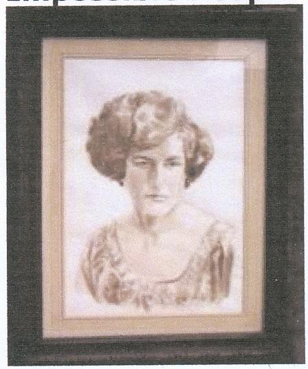Portrait by  Michael Peter Jones, the son-in-law of Karina Hayklan, Elizabeth's oldest daughter. | Elizabeth Hayklan