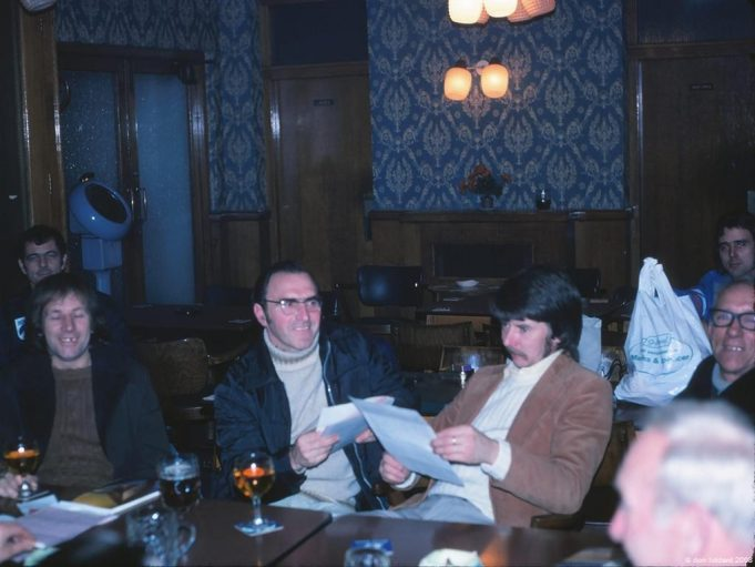 Meeting of the Sandivers Club at the Anchor. Ted is on the far right | Don Liddard