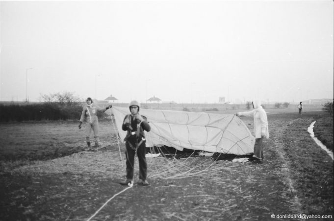 Ted parascending on Canvey | Don Liddard