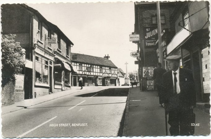 High Street 1965 before demolition of shops