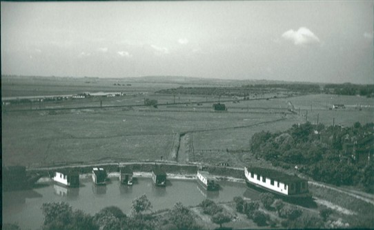 Houseboats in Church Creek - photo taken from the top of St Mary's church tower   (1961) | Gilbert Wines