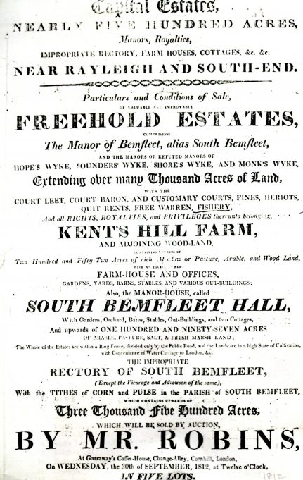 Sale poster page 1, 1812