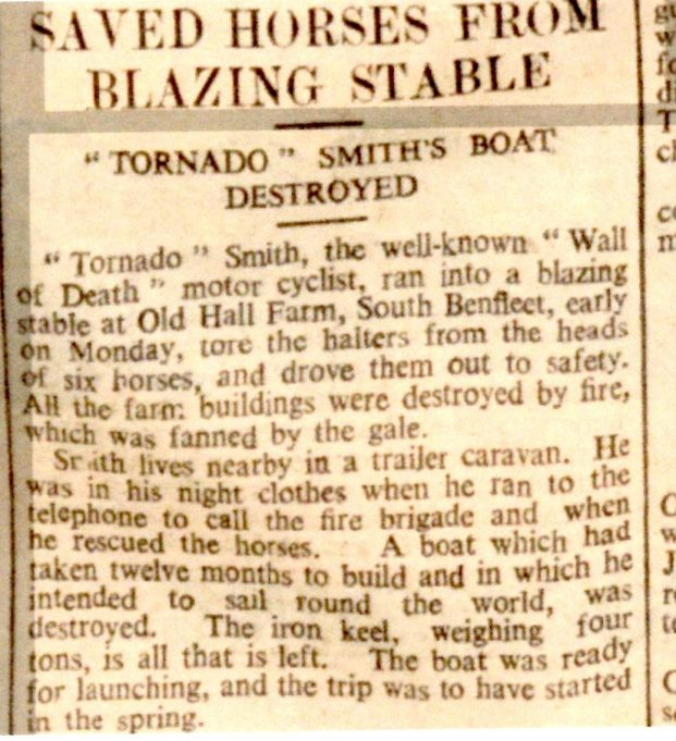 Report in the Chelmsford Chronicle January 13 1939