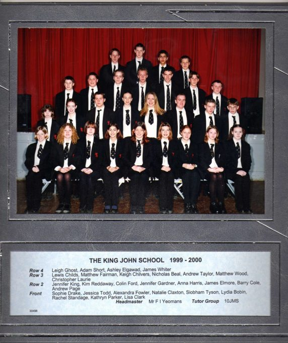 King John class 1999/2000   Roger Taylor collection