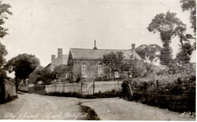 Methodist church in the Endway (now Essex Way)