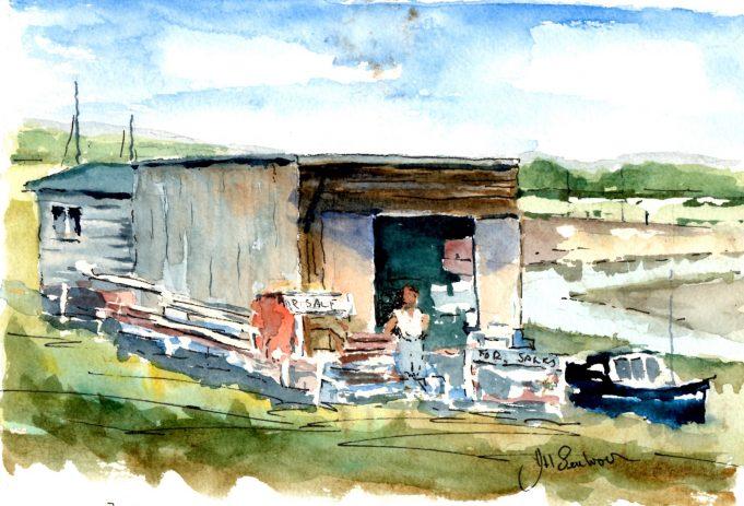Boatyard, the Pitsea side of the bridge