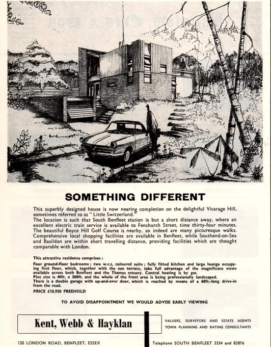 Estate agent's advert for No. 73 from 1966