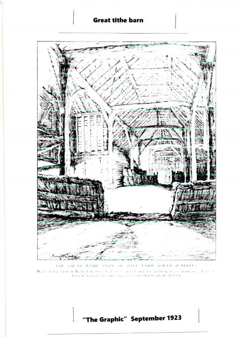 Interior of the great tithe barn | The Graphic (1923)