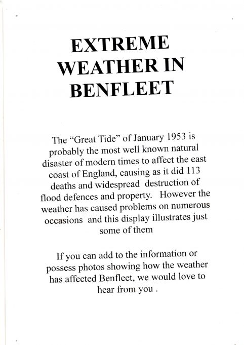 Extreme weather in Benfleet