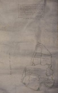 Map of Kersey Marsh Farm dated 1722