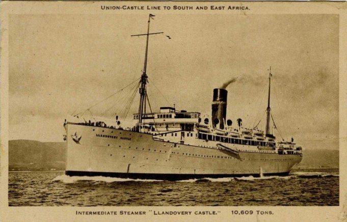 Postcard.  Llandovery Castle.  Prior to conversation to H.M.H.S. | Unknown