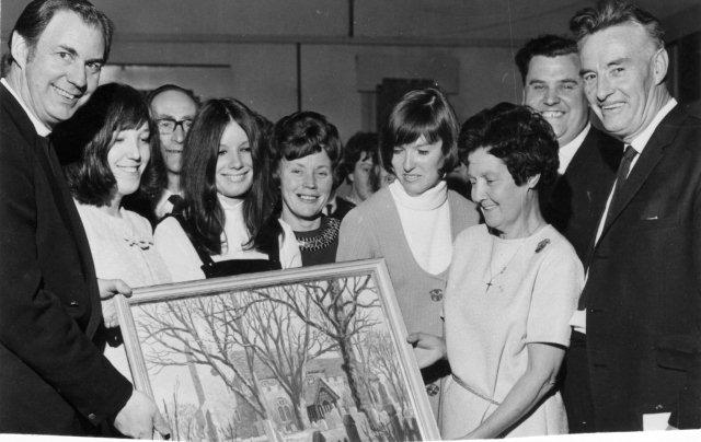 Presentation to Bert and Clarice Green 1970