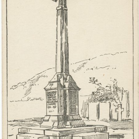 The War Memorial, erected 1920