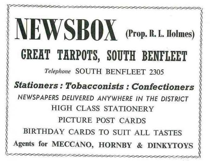 Advertisement for Newsbox | B.U.D.C. booklet dated 1962