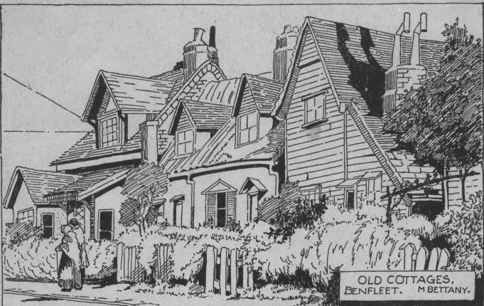 Old cottages in the Endway | May Bettany
