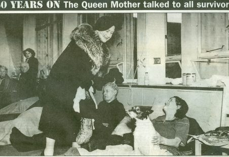The Queen Mother Visits Survivors of the 1953 Floods