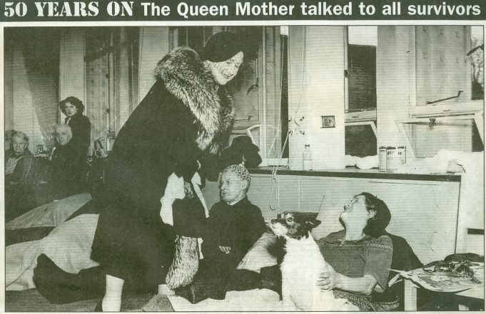 Bringing Cheer - the Queen Mother visited the makeshift disaster centres which cared for families who had been made homeless. | Echo supplement 15 Jan 2003