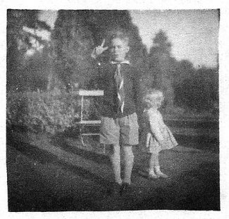 Me in the garden with my sister Mary   John Garnham
