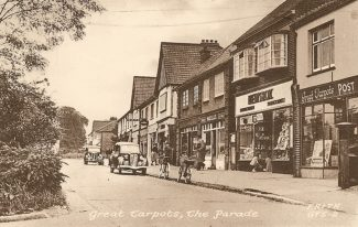 The parade of shops at Tarpots | date unknown
