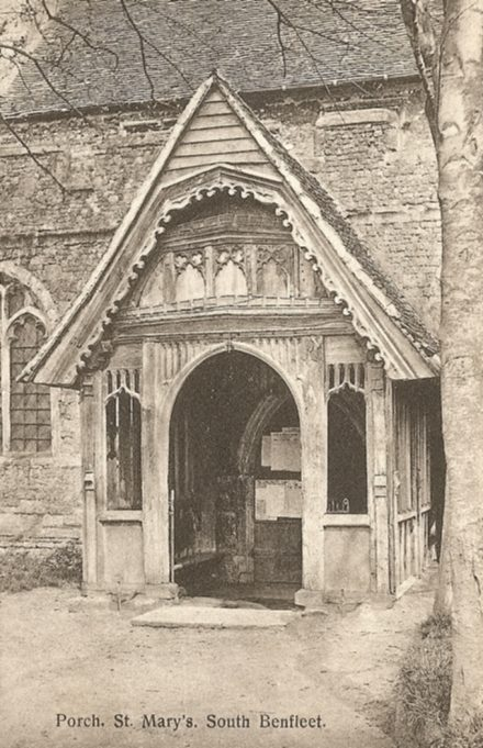 St Mary's Church Porch | R.F. Postcards collection