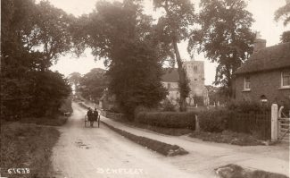 London Road (now High Road) looking towards St Mary's Church which can be seen in the background. Date unknown.