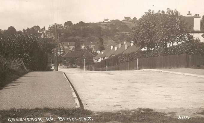 Grosvenor Road looking down towards Essex Way - date unknown