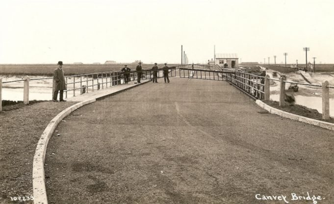 The Colvin Bridge as viewed from Benfleet