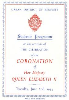 Souvenir Programme front page - 2nd June 1953 | B.U.D.C.