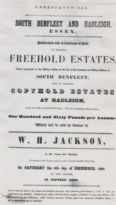 Property Auction 1860