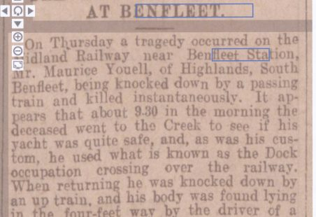 Railway Tragedy at Benfleet