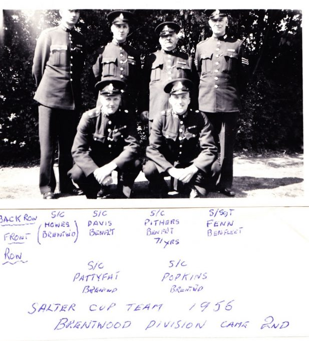 The 1956 Salter Cup First Aid and Police Duties Team from the Brentwood Division, of which Benfleet was part. | Edgar John Davis