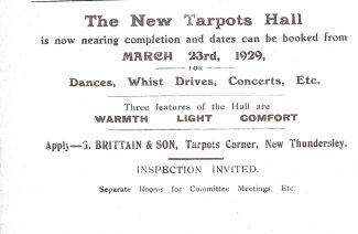 The Tarpots Hall