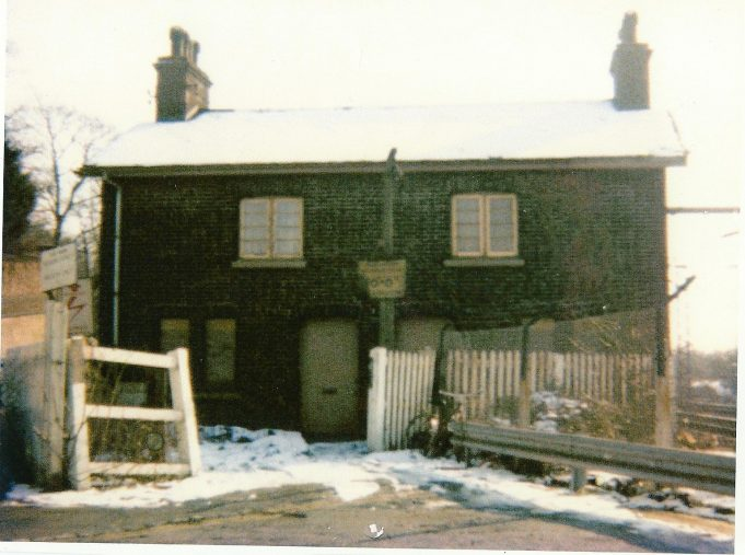 1 and 2 Station Cottages (formerly known as 119 High Street) Benfleet, Dennis lived in the house on the right side close to the railway tracks, shortly before it was demolished some time in the 1980's | Dennis Layzell